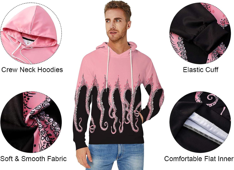 Cooleader Unisex 3D Pullover Hoodie Galaxy Hoody Long Sleeve Print Hooded Sweatshirt with Drawsting Pocket M-XXL