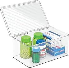 InterDesign 39810 Med+ Storage Box Organizer for Vitamins, Medicine, Medical, Dental Supplies, Clear, 4.75 Quart