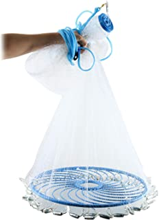 Yaegoo Fishing Net with Perfect Circle Ring for Throw,...