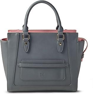 حقيبة يد نسائية بتصميم مارسي بوند - حقيبة يد كلاسيكية من الجلد النباتي بمقبض علوي
