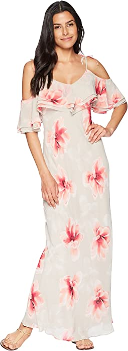 Floral Chiffon Popover Maxi Dress CD8H27LD