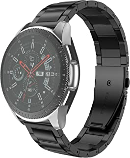 ANCOOL Comaptible with Galaxy Watch Bands 46mm Stainless Steel Watch Band Link Bracelet Repalcement for Gear S3 Frontier/Classic/Galaxy Watch 46mm Smartwatches, Black