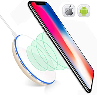 Wireless Charging Pad for Samsung Galaxy Note 8 S6 S7 S9 S8 Plus-Wireless Charger iPhone X 8 8 Plus-Qi Wireless Charging Pad-Station-iPhone X Wireless Charger-10W Wireless Charger iPhone 8 White