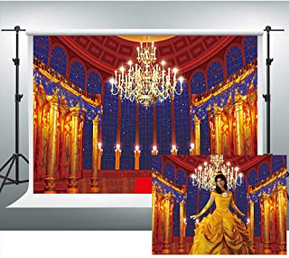 Medieval Palace Backdrop for Beauty and Beast Themed Party 7x5ft Magnificent Photography Background Photo Booth Studio Props ZYVV0673