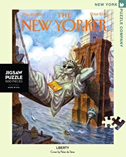 New York Puzzle Company - New Yorker Liberty - 500 Piece Jigsaw Puzzle