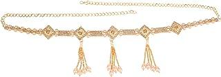 Efulgenz Indian Bollywood Vintage Gold Plated Waist Belt Belly Chain Kamarbandh Bridal Dangle Tassel Body Jewellery
