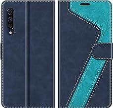 MOBESV Custodia Samsung Galaxy A50, Cover a Libro Samsung Galaxy A50, Custodia in Pelle Samsung Galaxy A50 Magnetica Cover per Samsung Galaxy A50, Elegante Blu