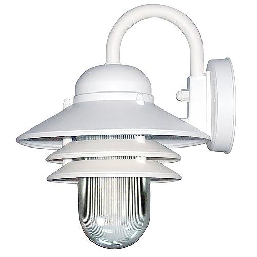White Outdoor Wall Lights Amazon Com