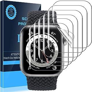 [6 Pack]LK Protector de Pantalla Compatible con Apple Watch Series 7 45MM con Series 6 SE Series 5 Series 4 44mm Protector...