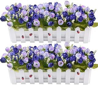 Set di 15 fiori artificiali per esterni veranda per interni ed esterni per piante da appendere resistente ai raggi UV vaso da giardino decorazione per matrimoni in finta plastica Amajoy