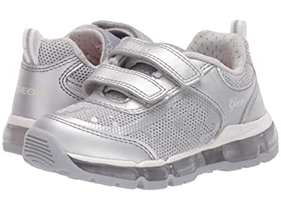 Geox Kids Android 26 (Toddler/Little Kid) (Silver) Girl