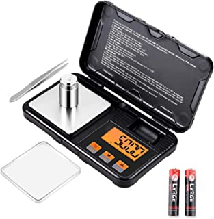 Digital Pocket Scale, AmazerTec 200g x 0.01g Jewelry Gram Scale, 50g Calibration Weight, 6 Units Conversion Mini Scale wit...