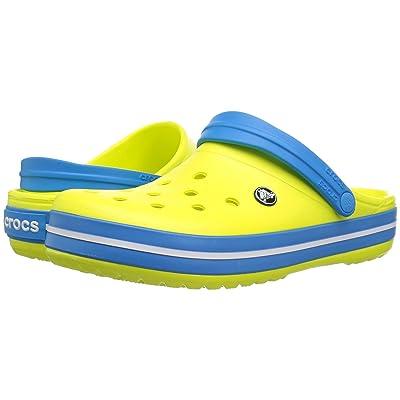 Crocs Crocband Clog (Tennis Ball Green/Ocean 1) Clog Shoes
