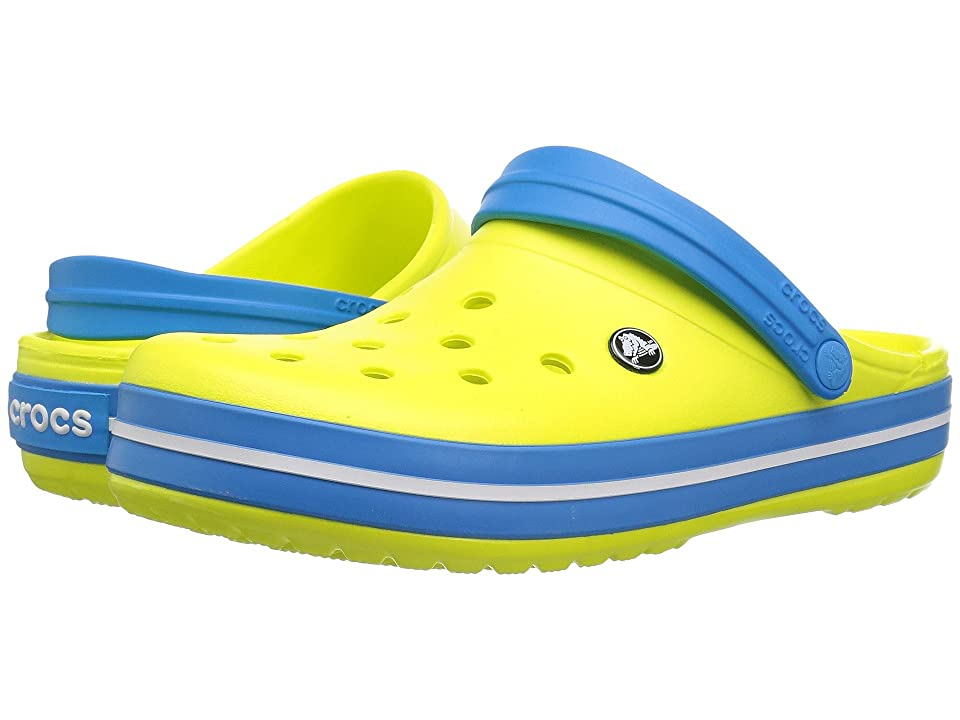 Crocs Crocband Clog (Tennis Ball Green/Ocean 1) Clog Shoes