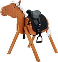 Sweety Toys 12961 Outdoor tuinpaard houten paard Stella maat L 118 cm MET zadel