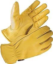 SKYDEER Full Premium Genuine Deerskin Leather Hi-Performance Utility Driver Work Gloves..