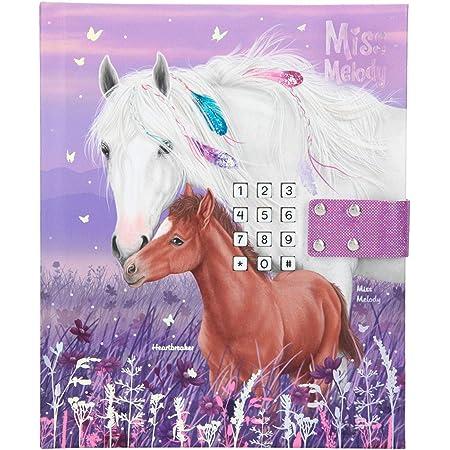 Depesche 11419 Miss Melody - Diario con código y sonido, 18 x 15 x 3,5 cm, con páginas a rayas para pensamientos y sentimientos secretos, color morado