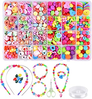Mumoo Bear Beads Set for Jewelry Making Kids Adults Children Craft DIY Necklace Bracelets Letter Alphabet Colorful Acrylic...