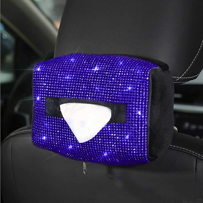 Under blast sales QINU Bling Car Sun Visor Tissue Cry Soft SEAL limited product Box Holder Plush