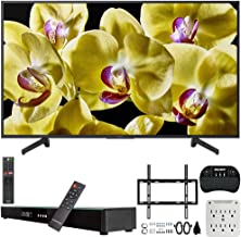 Sony XBR-55X800G 55-inch 4K Ultra HD LED Smart TV (2019) Bundle with Deco Gear 31-inch Sound Bar, Deco Mount Flat Wall Mount Kit, Deco Gear Wireless Keyboard, 6-Outlet Surge Adapter with Night Light