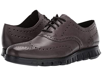 Cole Haan Zerogrand Wing Ox (Burnished Pavement Leather/Black) Men