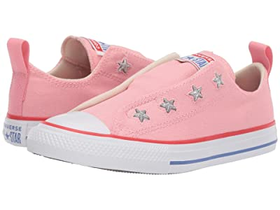 Converse Kids Chuck Taylor(r) All-Star(r) Slip Canvas Color (Little Kid/Big Kid) (Coastal Pink/Habanero Red) Girls Shoes