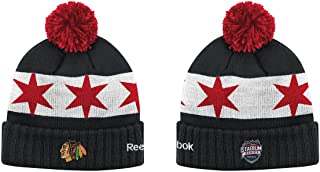 NHL 2016 Stadium Series Reebok Cuffed Knit Hat with Pom