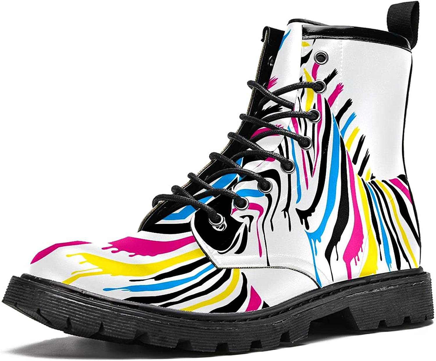 Zebra with Safety and trust colored It is very popular stripes Men's Hiking Boots High Stylish Top