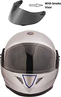 VARSHINE RHHYN@X FULL FACE HELMET || Grey COLOR || Medium Size || ISI APPROVED || WITH HYDROGRAPHICS || Unbreakable PC Smoke Visor with Double Layer Silicon Hardcore Coating || Scratch Resistant || MODEL- JETTY