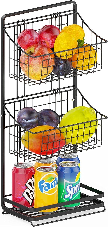 3 Tier Wire Market Ranking TOP13 Basket Stand Holder - Veckle Fruit Mini shipfree