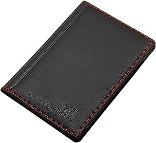 Porta carte di credito con 12 scomparti MJ-Design-Germany Made in UE in diversi colori e designs (Design 4 / Nero)