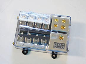 XtremeAmazing 0//2//4 Gauge in 4//8//10 Gauge Out Amp 2 Way Outputs Power Distribution Block Fuse Holder for Car Audio Splitter Pack of 2