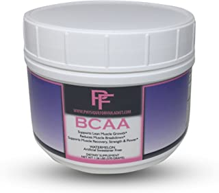 Physique Formula BCAA Powder-Artificial Sweetener Free Branched Chain Amino Acids Powder Watermelon Flavor 1.26 Lbs (30 Se...