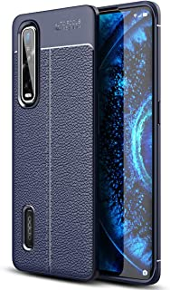 OPPO Find X2 Pro Case, Ikwcase Litchi Skin Anti-slip Resilient TPU Armor Ultimate Protection Case Cover for OPPO Find X2 P...