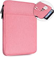 10 Inch Waterproof Tablet Sleeve Case for Samsung Galaxy Tab S5e S6 10.5/Galaxy Tab A 10.1, Lenovo Smart Tab 10 M10 P10 10.1, iPad Pro 11 10.2 9.7, iPad Air 3 10.5 inch Tablet Protective Bag, Pink