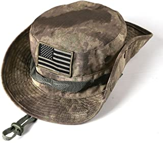 massmall Military Tactical Head Wear/Boonie Hat Cap For Wargame,Sports,Fishing &Outdoor Activties (Acu Camouflage)
