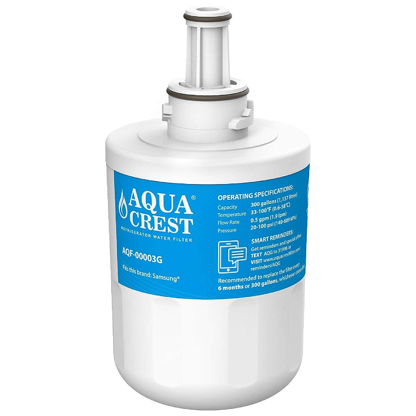 AQUACREST DA29-00003G Refrigerator Water Filter, Compatible with Samsung DA29-00003G, DA29-00003B, DA29-00003A, Aqua-Pure Plus, HAFCU1