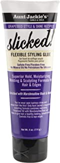 Aunt Jackie's Grapeseed Recipes - Slicked! Flexible Styling Glue, Slick it, Smooth it, Sculpt it, Spike it, Slay it, Tames...