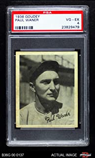 1936 Goudey Paul Waner Pittsburgh Pirates (Baseball Card) PSA 4 - VG/EX Pirates