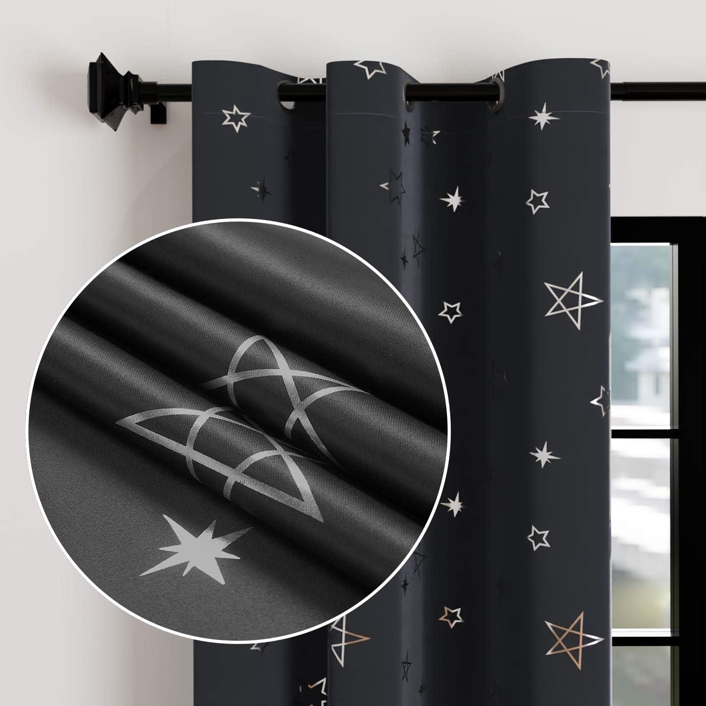 Encasa Homes Star Popular Grey Blackout Bedroom Kids Curtains Livin for Limited time sale