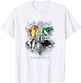 Harry Potter Hogwarts Painted Crest Camiseta