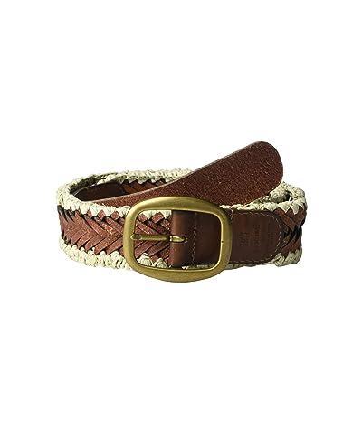 Frye 35 mm Woven Belt (Tan) Women