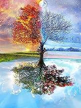 DIY 5D Seasons Tree Rhinestones Diamond Painting Colorful Crystal Cross Stitch DIY Trees Crystal Cross Stitch Decorative E...