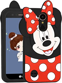Allsky Case for LG Stylo 3 Plus/LG Stylus 3,Cartoon Soft Silicone Cute 3D Fun Cool Cover,Kawaii Unique Kids Girls Teens Animal Character Rubber Skin Shockproof Cases for LG Stylo 3 Minnie Mouse