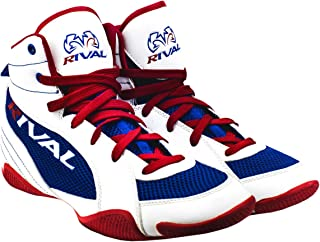 RIVAL BOXING BOOTS-LOW TOPS WITH MESH (RED WHITE & BLUE, 6)