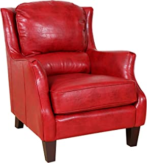 Porter Designs Garnett Accent Chair, Single-Seat, Red