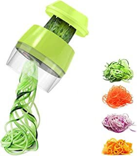 Mini Coupe Légumes Trancheuse Spirale, Spiraliseur de Légumes Spiralizer Legume Spaghetti Mandoline Cuisine, pour Courgett...
