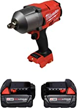 "Milwaukee 2767-20 1/2"" High Torque Impact Wrench w/ 2 Pc. 48-11-1828 3Ah Battery"