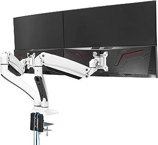"AVLT Dual 13""-35"" Monitor Arm Desk Mount fits Two Flat/Curved Monitor Full Motion Height Swivel Tilt Rotation Adjustable M..."