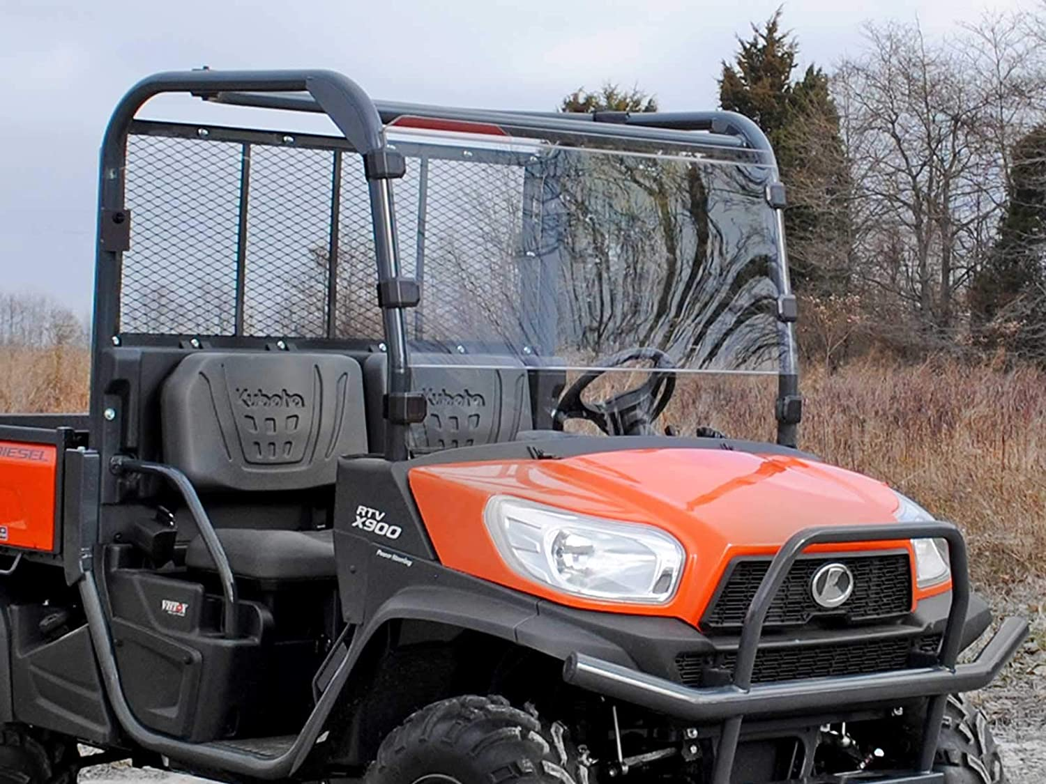 SuperATV Scratch Denver Mall Resistant Full Windshield All stores are sold Dies 2014+ Kubota for